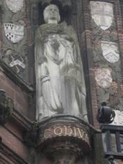 Godiva standing up