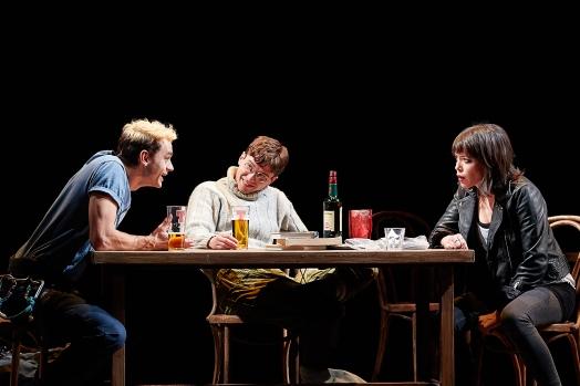 Angus Yellowlees (Simon), Patrick McNamee (Richard) and Fiona Hampton (Sarah). Photo by Michael Wharley